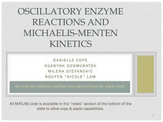 Oscillatory enzyme reactions and  Michaelis-Menten  Kinetics