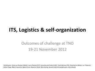 ITS, Logistics & self-organization