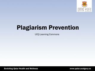 Plagiarism Prevention