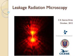 Leakage Radiation  M icroscopy