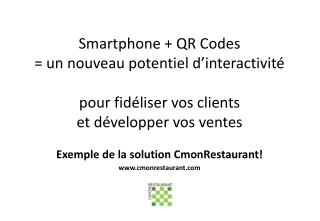 Exemple de la solution CmonRestaurant ! www.cmonrestaurant.com