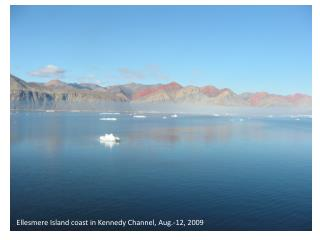 Ellesmere Island coast in Kennedy Channel, Aug.-12, 2009
