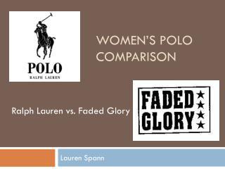 Women's Polo comparison