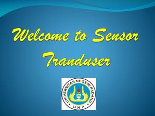 Welcome to Sensor Tranduser