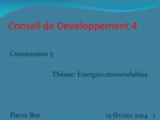 Conseil de Développement 4