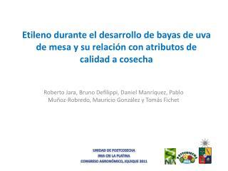 Unidad de  Postcosecha INIA CRI La Platina Congreso Agronómico,  Iquique 2011