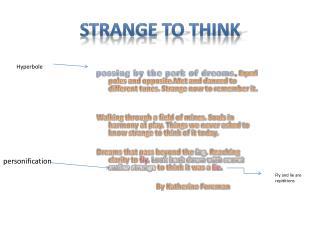 Strange to think