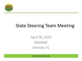 State Steering Team Meeting
