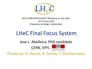 LHeC Final Focus System