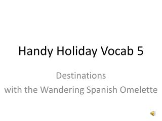 Handy Holiday Vocab 5