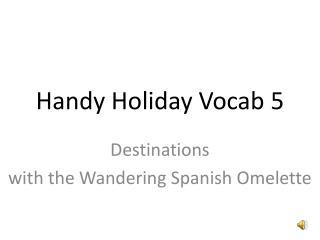 Handy Holiday Vocab 5