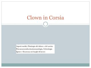 Clown in Corsia