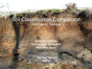 Soil Classification Comparison Hall County, Georgia