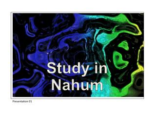 Study in Nahum
