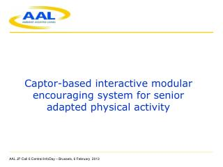 Captor-based interactive modular  encouraging system  for  senior adapted physical  activity