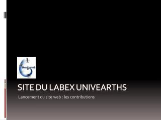 Site du  labex univearths
