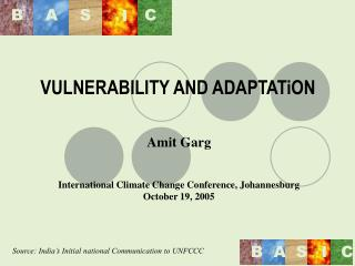VULNERABILITY AND ADAPTATiON