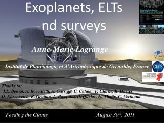 Anne-Marie Lagrange  Institut de Planétologie et d'Astrophysique de Grenoble, France