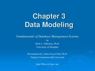 Chapter 3 Data Modeling