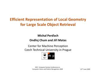 Efficient Representation of Local Geometry for Large Scale Object Retrieval