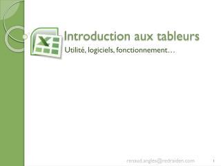Introduction aux tableurs