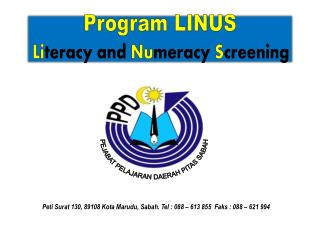 Program LINUS Li teracy  and  Nu meracy  S creening