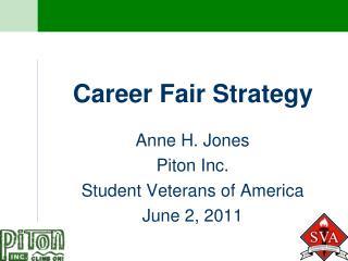 Career Fair Strategy