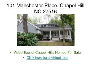 Chapel Hill Homes for Sale! Outstanding Transitional Home in