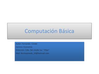 Computación Básica