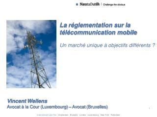 La  réglementation sur la  télécommunication mobile U n  marché  unique à  objectifs différents  ?