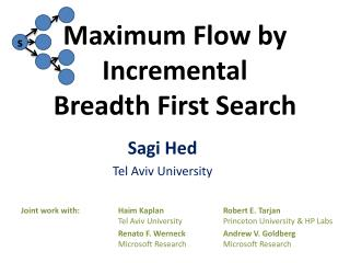 Maximum Flow by Incremental Breadth First Search