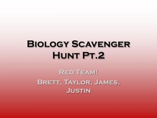 Biology Scavenger Hunt Pt.2