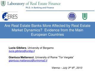 Lucia Gibilaro ,  University  of Bergamo lucia.gibilaro@unibg.it