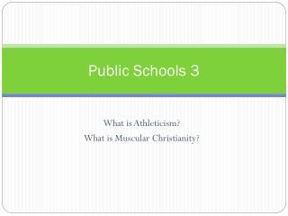 Public Schools 3