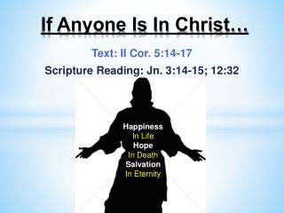 If Anyone Is In Christ…