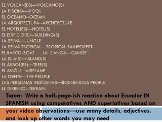 ecuador vocab