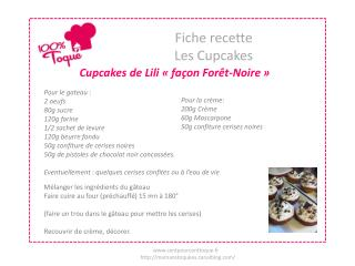 Fiche recette Les Cupcakes