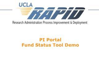 PI Portal Fund Status Tool Demo