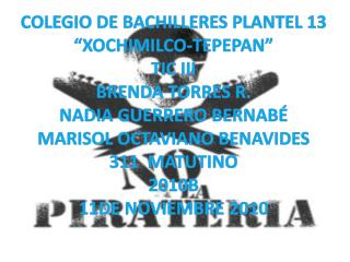 "COLEGIO DE BACHILLERES PLANTEL 13 ""XOCHIMILCO-TEPEPAN"" TIC III BRENDA TORRES R."