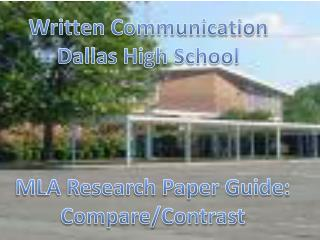 Written Communication Dallas High School