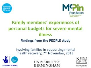 Family members' experiences of personal budgets for severe mental illness