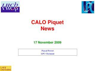 CALO Piquet  News