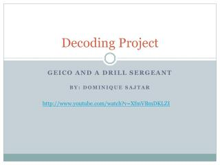 Decoding Project