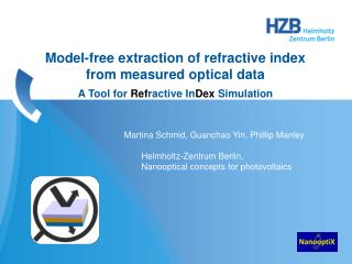 Model-free extraction of refractive index from measured optical  data