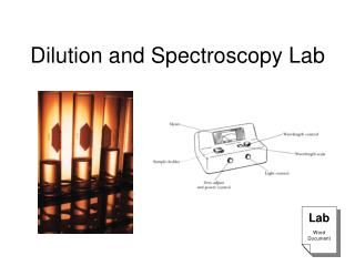 Dilution and Spectroscopy Lab