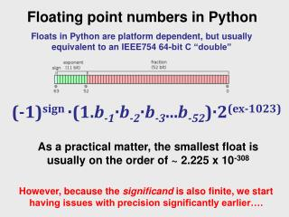 Floating point numbers in Python