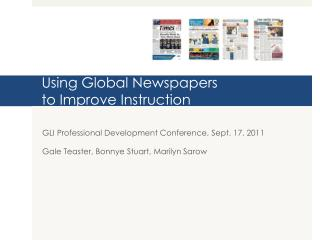 Using Global Newspapers  to Improve Instruction