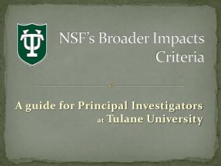 NSF's Broader Impacts  Criteria