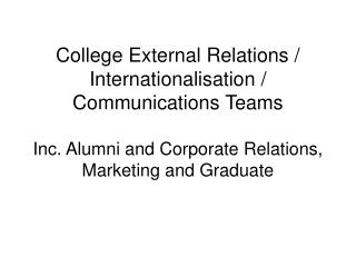 College External Relations