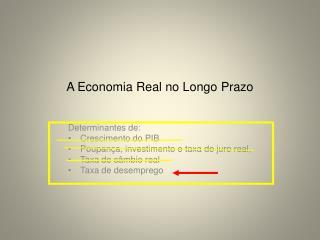 A  Economia  Real no Longo  Prazo